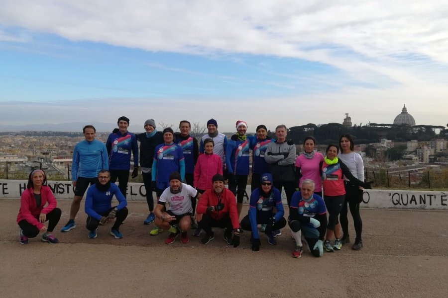 Un buon natale di corsa: L'ATLETICA MONTE MARIO CORRE TUTTA INSIEME